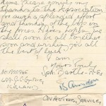 Letter Written from Spr Bartle
