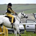 Gwinear 2015 grey pony jumping